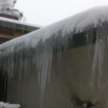 big ice touching ground